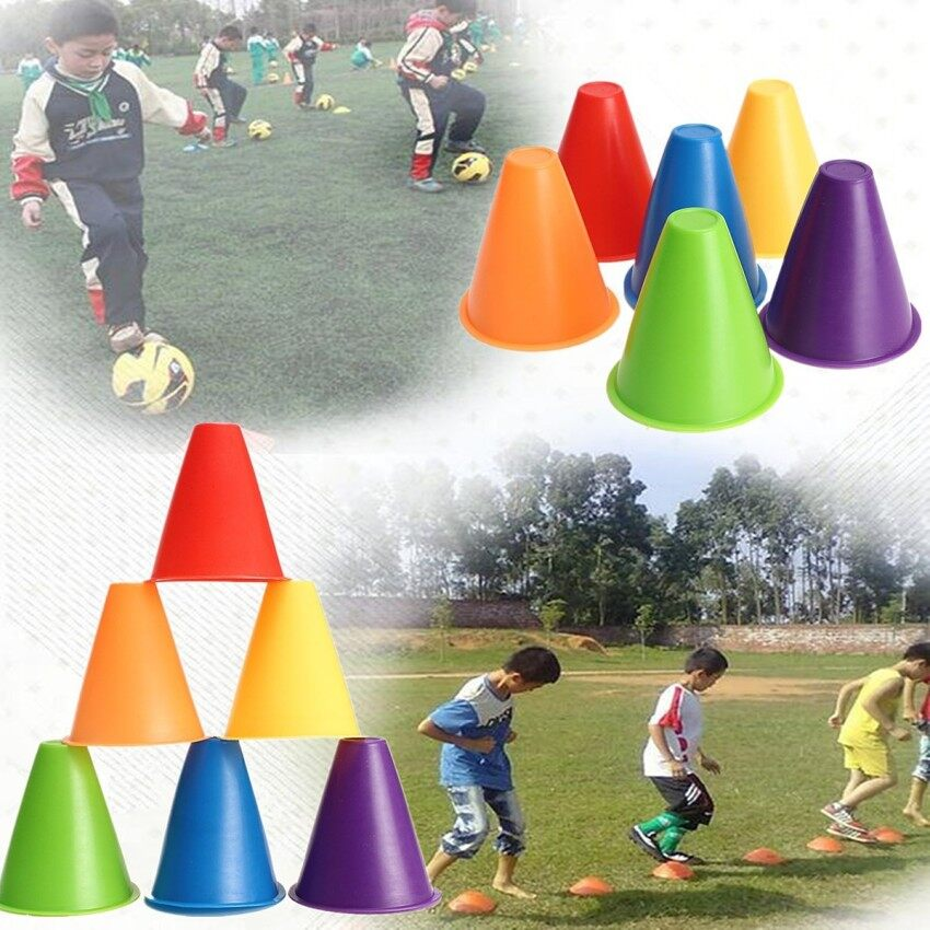 1Pcs Witches Hat Slalom Cones Marker Safety Colors for Skating Football Soccer Green - intl
