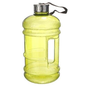 2 PCS 2.2 Liter (Half Gallon) 64oz BPA-Free Large Training Gym Water Bottle Handle Yellow - intl