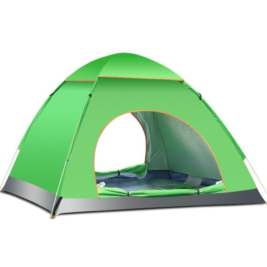 3-4 Person Fold Camping & Hiking Tent Included free Led light - intl