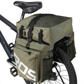 3 in 1 Multifunction Bike Bag Bicycle Pannier Rear Seat Bag (Army Green) - Intl
