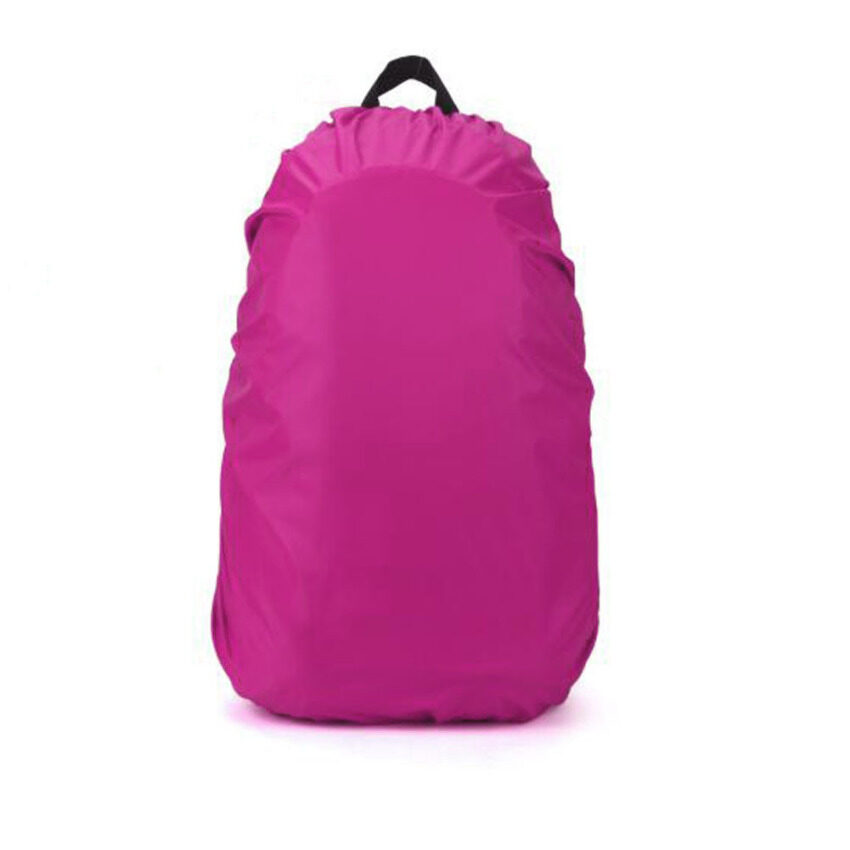 35L Waterproof Dust Rain Cover Travel Hiking Backpack Camping Rucksack Bag New (Hot Pink)