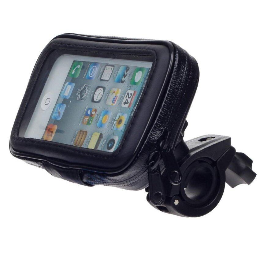 360WISH Motorcycle Bicycle Water Resistant 4 Port Holder/ Stand for GPS/ Iphone 6 - Black - intl