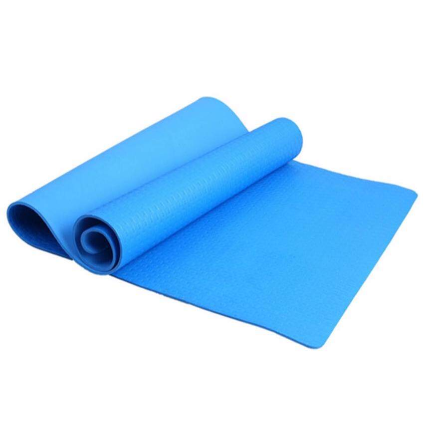 4mm Thickness Yoga Mat Non-slip Exercise Pad Health Lose Weight Fitness Durable(Blue