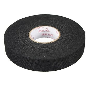 5pcs New Wiring Loom Harness Adhesive Cloth Fabric Tape Cable Loom 19mmx25m Black - intl