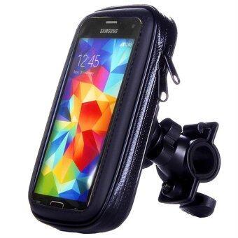 6.0 inch Bicycle Motocycle Bike Phone Waterproof Bag Holder for iphone 6 plus /Meizu pro 5 (Black) (Intl)