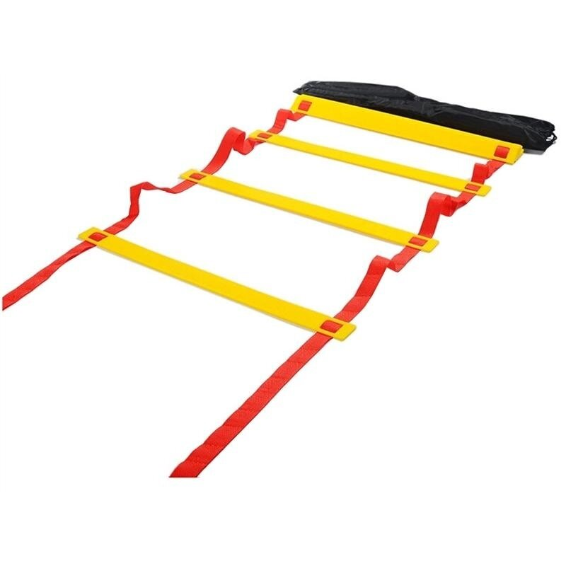 Adjustable Flat Soccer Speed Training Agility Ladder with Free Carry Bag - intl