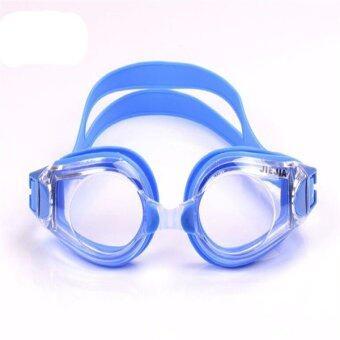Anti Fog UV Coated Myopia Swimming Glasses Waterproof Swimming Goggles(Blue/Transparent)