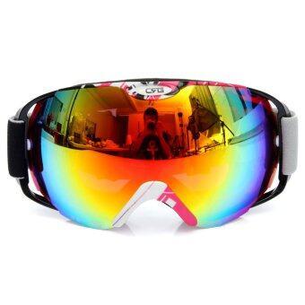 Anti-fog UV Dual Lens Winter Outdoor Sport Snowboard Ski Goggle Protective Glass - Intl