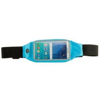 Audew Rainproof Sweat-proof Sports Zip Waist Belt Bag Case For iPhone 5S iPhone 6S Blue (Intl)