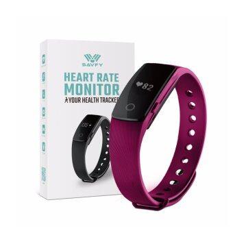 สายรัดข้อมือเพื่อสุขภาพ Bluetooth Smart Heart Rate Wristband Bracelet 0156 (สีดำ)