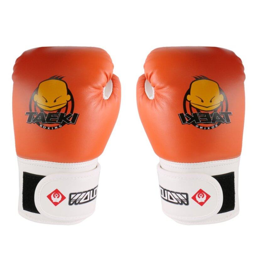 BolehDeals Kids PU Leather Kickboxing MMA Muay Thai Training Punching Bag Boxing Gloves
