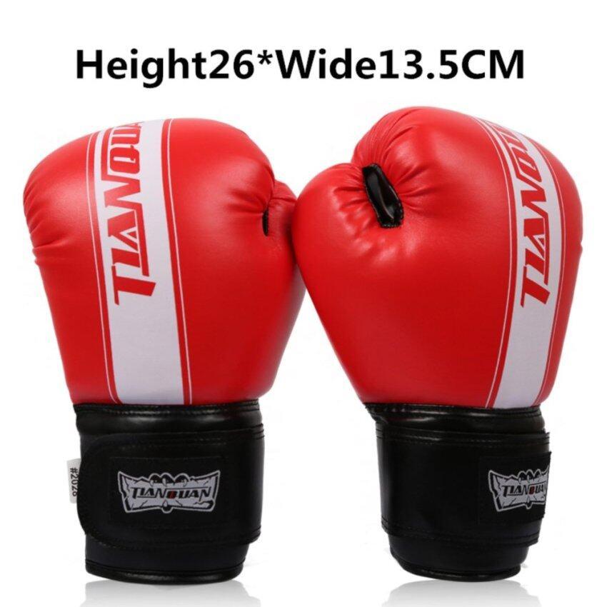 Boxing Gloves Sanda Gloves Adults Cadet Muay Thai Professional Wrestling Fight - intl