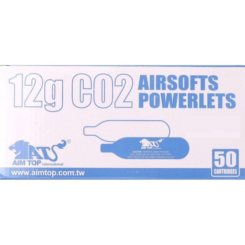 แก๊สหลอด Co2 12g. ยี่ห้อ AIMTOP แพ็ค 50 หลอด