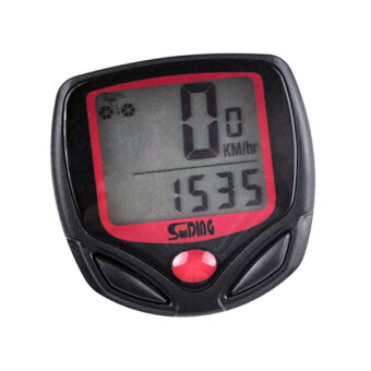 Computer Odometer Speedometer +cable 2 tier LCD display Cycling Accessories (Black)