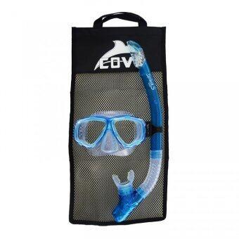 Cove ชุดหน้ากากดำน้ำ รุ่น Splash-S - Aqua Blue