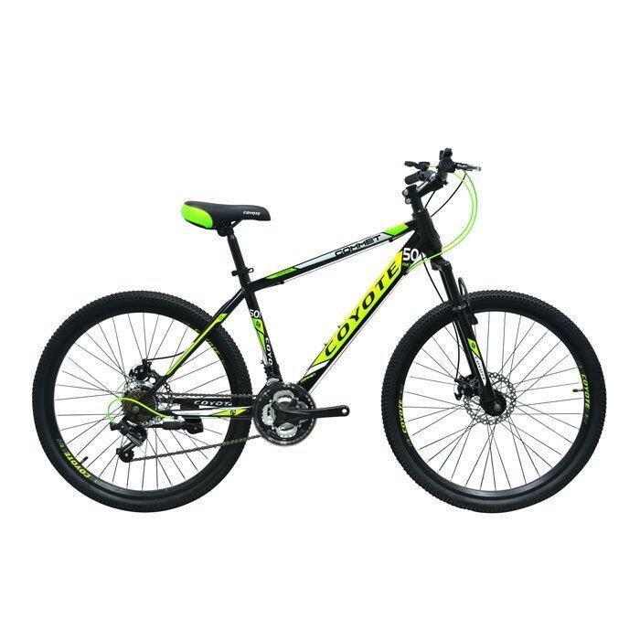 จักรยานCOYOTE จักรยานเสือภูเขา 26 นิ้ว เกียร์ SHIMANO 18 SPEED รุ่น COMMET(สีดำ/เขียว)