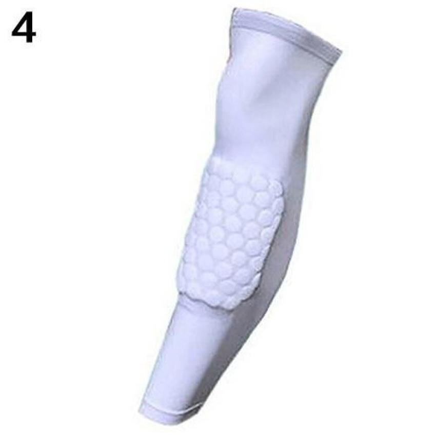 Crashproof Basketball Leg Knee Long Sleeve Gym Legprotector Gear Honeycomb Pad M (White) ...