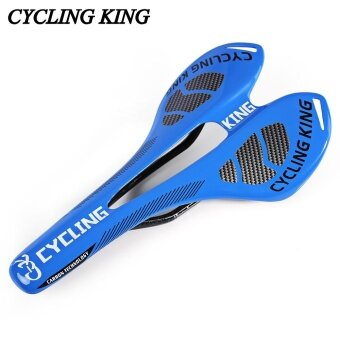 Cycling King MTB Bicycle Bike Durable 3K Full Carbon Seat Saddle(Blue) - intl