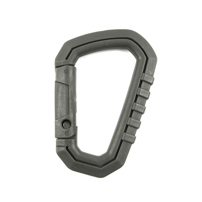 D-Ring Camp Snap Clip Hook Buckle Keychain Hiking Climbing Carabiner - intl .