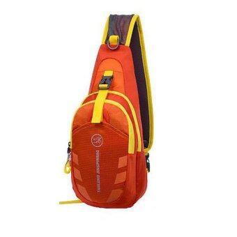 กระเป๋าสะพายไหล่กันน้ำ กระเป๋าคาดอก รุ่น D02 (สีส้ม)