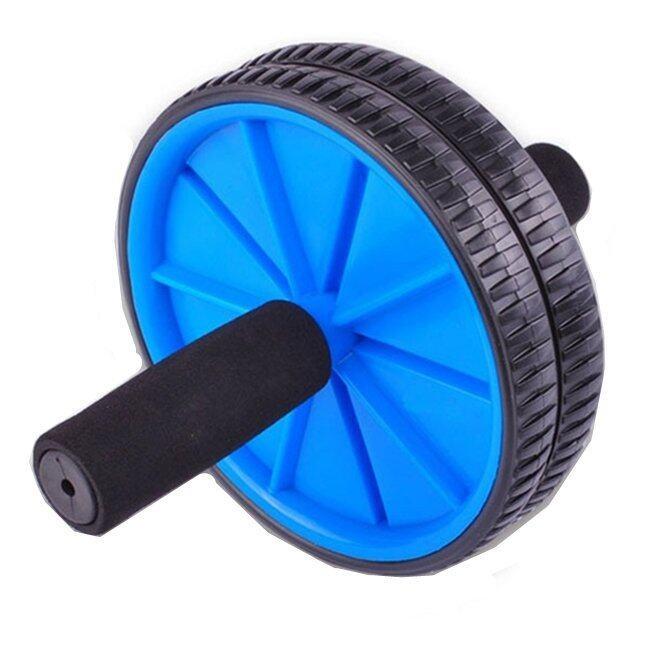 Dual Wheel Fitness AB Rocket Strength Training Equipment (Blue)