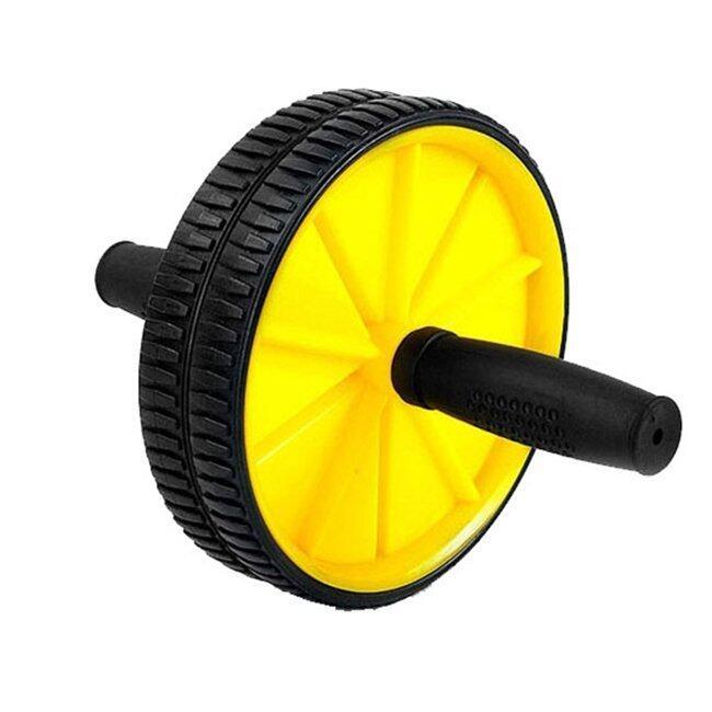Dual Wheel Fitness AB Rocket Strength Training Equipment (Yellow)