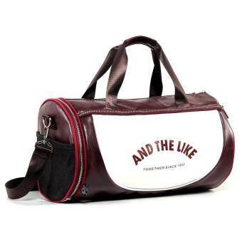 Exercise Sports Bag Leather Handbag Shoulder Bag Large Korean Gym Tote Fitness Bag (Black) - intl