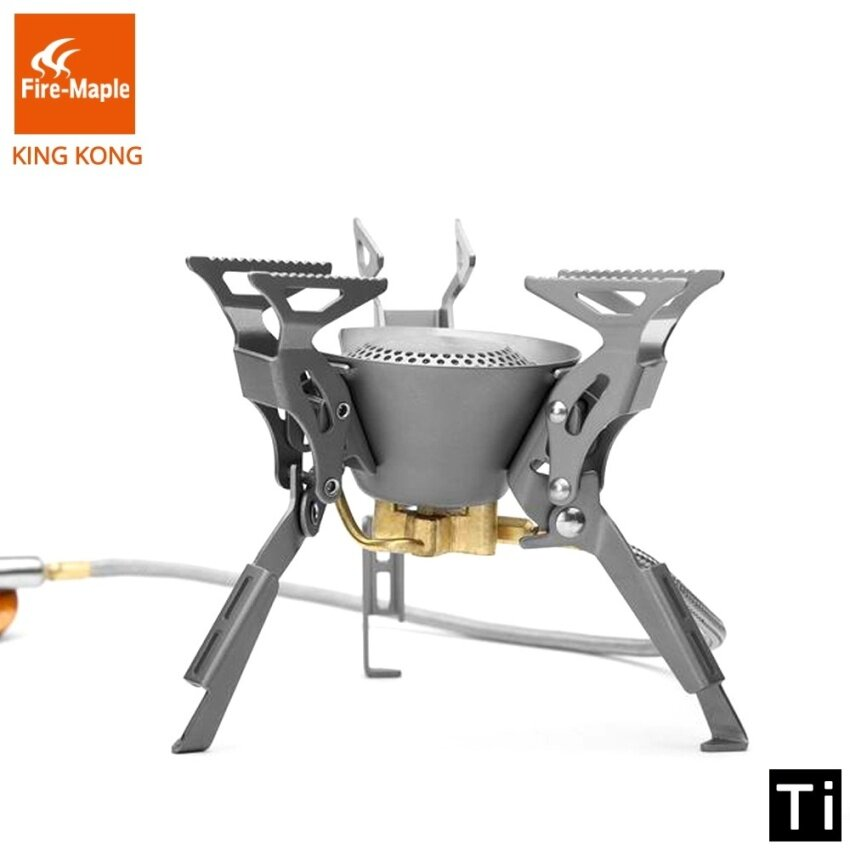 Fire Maple KING KONG Titanium Outdoor Camping Hiking Folding Burners Split Gas Stove Equipment 199g 2450W FMS-100T - intl