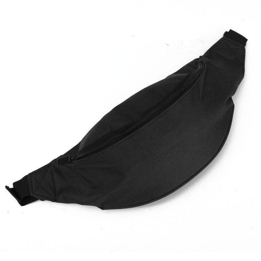 FLYERS Unisex Portable Running Belt Bum Bag Zip Pouch Sport Hiking Black