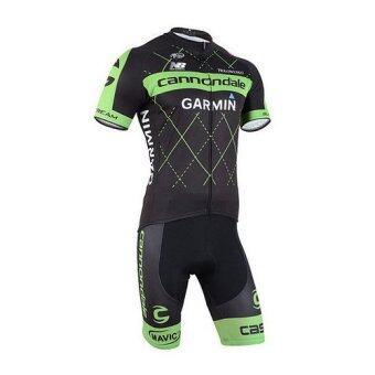 Garmin ชุดปั่นจักรยาน Garmin 2015 Green Sleeve short (สีเขียว/ดำ)