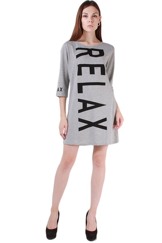 HengSong Women Printed Skirts Long Sleeve Skirts Grey ...