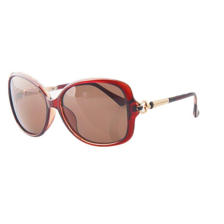 HONGQILIN Morden Sunglasses Lady Summer Eyeglasses UV Protection Sun Glasses (Brown) - I ...