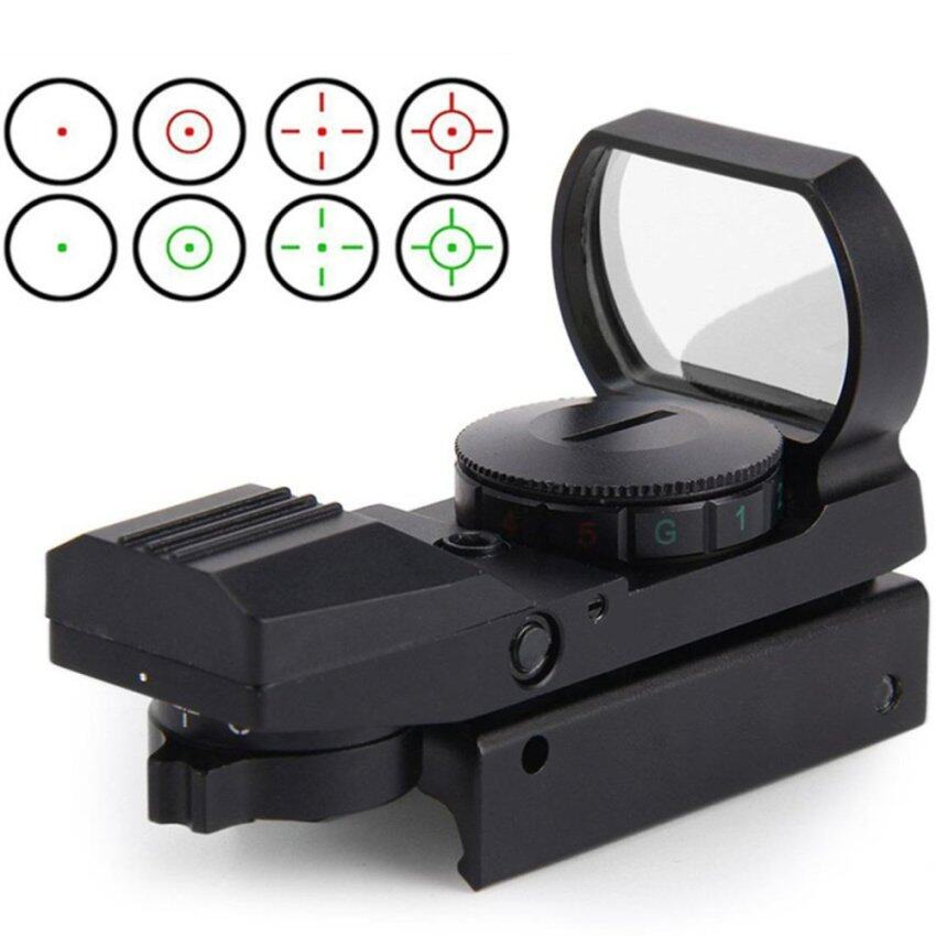 Hunting Tactical Reflex Holographic Red Green Reticle Sight Dot Rail Mount - intl ...