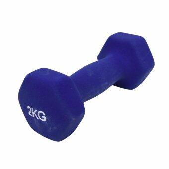 GALAXY ดัมเบล นีโอพลีน Neoprene Dumbbell 2 Kg. 1 คู่ (สีน้ำเงิน)