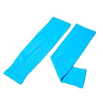 AQUA-X ปลอกแขนกันแดด ICE SKIN +UV CUT Free Size (Blue)