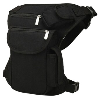 Canvas Tactical Leg Bag Pouch Thigh Pack Waist Belt for Airsoft Bike Cycling Motorcycle - intl