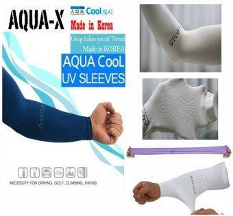 AQUA-X ICY ปลอกแขนขี่จักรยาน ปลอกแขนนักกอล์ฟ กันยูวี ถุงแขนกันแดด ปลอกแขนยูวีกันแดด จากเกาหลี FREE SIZE ใส่เย็น ยืดเยอะ นิ่มสบาย ไร้รอยต่อ แพกคู่ (สีดำ) (image 4)