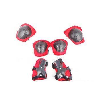 2Kids อุปกรณ์ป้องกัน สนับเข่า มือ ข้อศอก สำหรับเล่นกีฬา สำหรับเด็ก (สีแดง)
