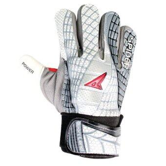 SPORTLAND Spider Goal Keeper Gloves No.6 - White/Black
