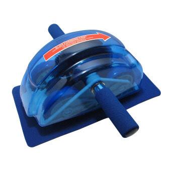 HHsociety เครื่องออกกำลังกายลดหน้าท้อง Roller Slide Ab Slide - Blue (image 0)