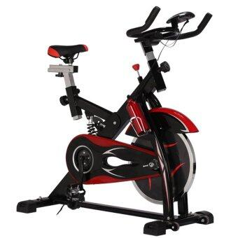 Avarin จักรยานออกกำลังกาย Exercise Spin Bike จักรยานฟิตเนส Spinning Bike รุ่น Falcon ( สีดำ ) ฟรี กระบอกน้ำแสตนเลส image