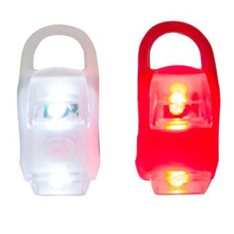 Eighty Eight ชุด ไฟหน้า-ไฟท้าย จักรยาน 2 ชิ้น - White/Red