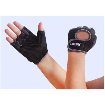 ถุงมือออกกำลังกาย ถุงมือฟิตเนส Fitness Glove Weight Lifting Gloves ( สีเทา) Size : M image