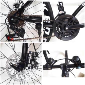 EXPERT GROUP จักรยานเสือหมอบ ล้อ 700C 21 SPEEDS รุ่น MTB - 111 ( สีดำ ) (image 1)