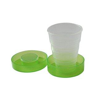Amango Plastic Folding Cup Telescopic Collapsible Outdoor Travel Camping