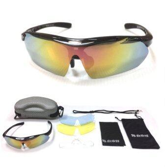EXPERT GROUP แว่นตา จักรยานครบชุด พร้อมเลนส์เปลี่ยน 3 แบบ (สีดำ)