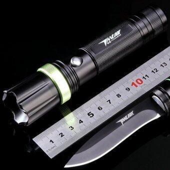 Easydeal ไฟฉาย LED ติดมีด พร้อมที่ถ่านและที่ชาร์จ (Black)