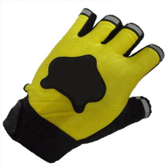 Amango Sports Half Fingers Gloves (Yellow)