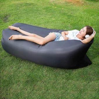 CR-SEVEN Lambag Original Hangout Air Sofa โซฟาลม โซฟากล้วย ที่นอนเป่าลม เตียงลมแบบพกพา อเนกประสงค์ พร้อมเป้สะพาย CR-LRC(BLACK)