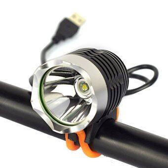JSP รุ่นใหม่ สว่างกว่าเดิม ไฟหน้าจักรยาน โคม ไฟ จักรยาน รุ่นใหม่ 3000 ลูเมน T6 LED หัวปลั๊กUSB สำหรับเชื่อมต่อกับ แบตเตอรี่-เพาเวอร์แบงค์